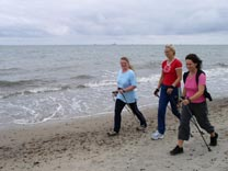 Walking am Ostsee Strand